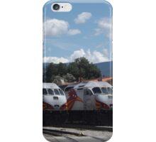 New Mexico Railrunner Locomotives, Santa Fe Railyard, Santa Fe, New Mexico  iPhone Case/Skin