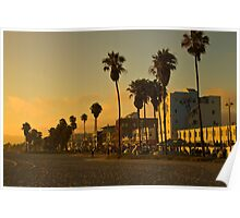 Dusk on Venice Beach, California Poster