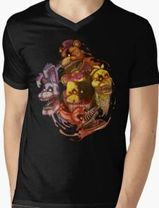 Five Nightmares of Freddy's Mens V-Neck T-Shirt