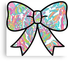Lilly Pulitzer Inspired Bow Scuba to Cuba Canvas Print