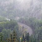 Fog, rain and trailing mist from Lake Superior by loralea