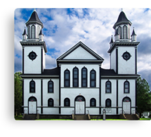 Churches of the French Shore (1) Canvas Print