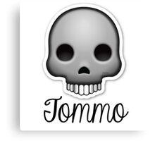 Skull Tomlinson (One Direction) Canvas Print
