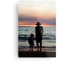 Mother and child - Darwin sunset Metal Print