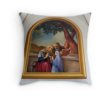 Churches of the French Shore (1) Throw Pillow