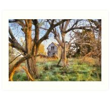 """"""" Old House Painted """" Art Print"""