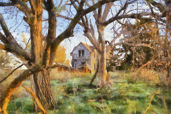 """"""" Old House Painted """" by JohnDSmith"""
