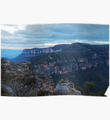 Winter Blues ~ Narrowneck, Katoomba NSW Poster