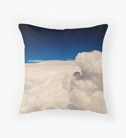 The edge of the storm over Kansas Throw Pillow