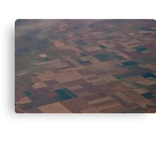 No circles here on the farmlands of America Canvas Print