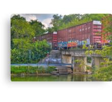 Tagged Train Cars Metal Print