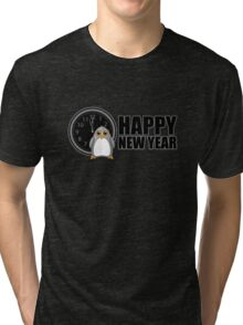 Happy New Year - Penguin Tri-blend T-Shirt