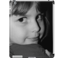 Black & White Portrait Of Young Child iPad Case/Skin