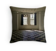 Checkered Floor, Western State Hospital Throw Pillow