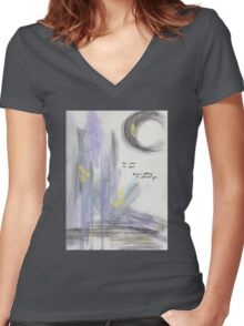 Lay Me Down Women's Fitted V-Neck T-Shirt