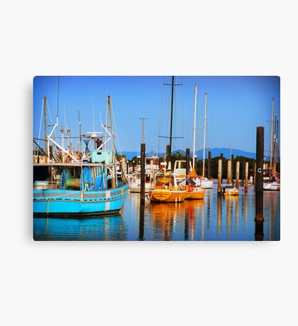 COLOURFUL HARBOUR Canvas Print