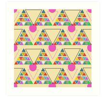 eco geometric Art Print