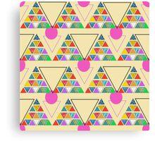 eco geometric Canvas Print