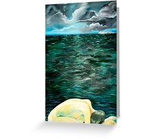 Woman By The Sea Greeting Card