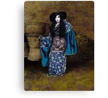 Geisha with Pots Canvas Print