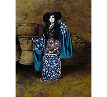 Geisha with Pots Photographic Print