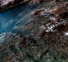 Water and Rock, St Brelade, Jersey by Shinobu