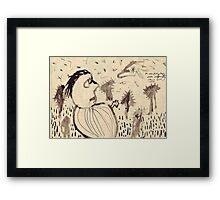 A Passing Cloud, Morning Framed Print