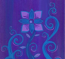 Purple and Blue Flower by quirkydame