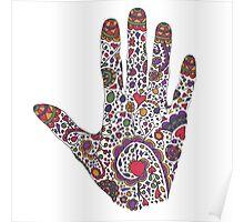 Tattoo Tribal Henna Hand Poster
