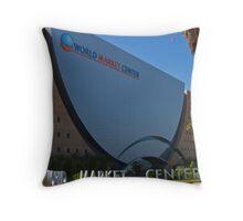 The World Market Center, Downtown Las Vegas, Nevada Throw Pillow