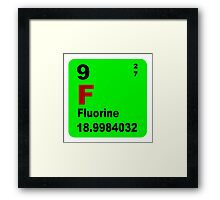 Fluorine Periodic Table of Elements Framed Print