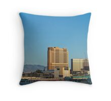 The Trump, Wynn Las Vegas and Palazzo at sunset Throw Pillow