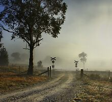 Foggy Crossing by Ian English