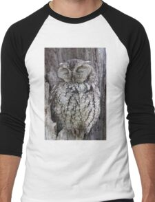 Sleepy Owl Men's Baseball ¾ T-Shirt