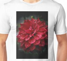 blood red.... soaked with raindrops Unisex T-Shirt