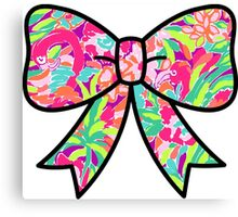 Lilly Pulitzer Inspired Bow Lulu Canvas Print