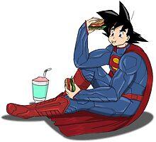 Goku as Superman by Persis Johnson