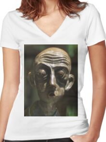 0317 Man about Town Women's Fitted V-Neck T-Shirt