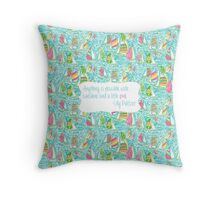 Lilly Inspired Sunshine Pink Quote You Gotta Regatta Throw Pillow