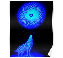 Fractal Moon Cry Poster