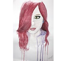 Pink Karma Watercolour Photographic Print