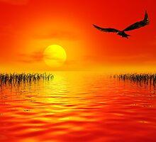 Beside a burning sea by John Edwards