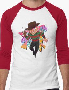 80s Horror Icons- Freddy Krueger Men's Baseball ¾ T-Shirt