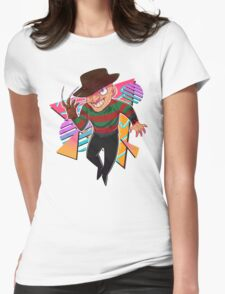 80s Horror Icons- Freddy Krueger Womens Fitted T-Shirt