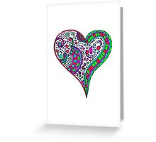 Henna Heart Vibrant Color Heart Mandala Greeting Card