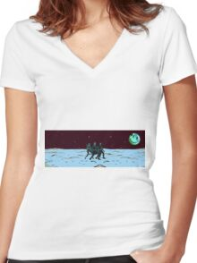 Party on Mars Women's Fitted V-Neck T-Shirt