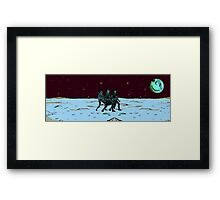 Party on Mars Framed Print