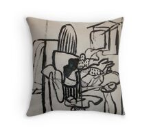 Modern Work Throw Pillow
