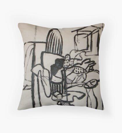 Modern Work Throw Pillow