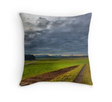 meadow HDR storm Throw Pillow